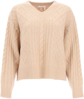 See by Chloe V-NECK SWEATER L Pink
