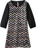My Michelle Girls 7-16 Chevron Sequin Dress