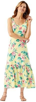 Tommy Bahama Floristic Approach Midi Dress (Lillikoi Yellow) Women's Dress