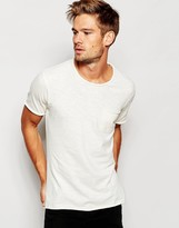 Selected Washed T-Shirt with Raw Edge