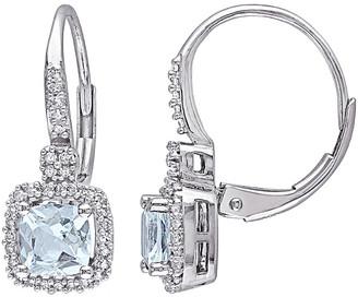 Rina Limor Fine Jewelry 10K 1.26 Ct. Tw. Diamond & Aquamarine Earrings