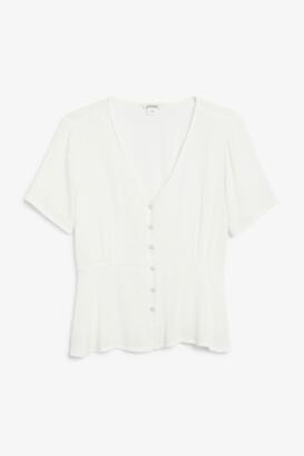 Monki V-neck blouse