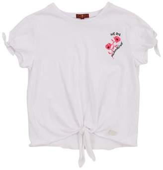 7 For All Mankind Kids Girls S-Xl Tie Tee In White