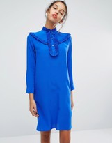 Paul Smith Ps Ps By Frill Front Silk Dress