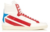 Saint Laurent Star-panelled high-top leather trainers