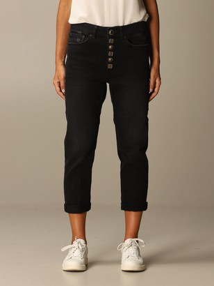 Dondup Jeans In Denim With Jewel Buttons