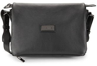 Valentino By Mario Valentino Omer Pebbled-Leather Messenger Bag