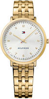 Tommy Hilfiger Women's Casual Sport Gold-Tone Stainless Steel Bracelet Watch 35mm 1781761