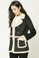 Forever 21 FOREVER 21+ Faux Shearling-Lined Coat