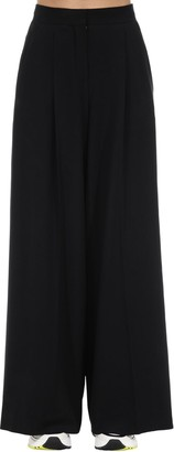Lardini Wide Leg Viscose Blend Pants