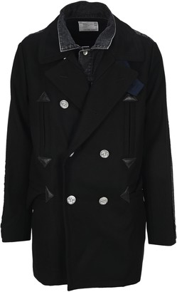 Sacai Panelled Double Breasted Coat