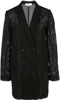 Fleur Du Mal Sheer Blazer Dress