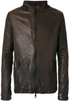Giorgio Brato double zip jacket - men - Leather/Polyester - 48