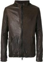 Giorgio Brato double zip jacket - men - Leather/Polyester - 50