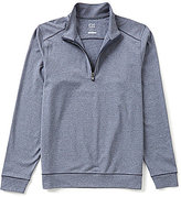 Cutter & Buck Shoreline DryTec Mock Neck Half-Zip Horizontal-Stripe Jacket