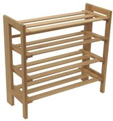 Winsome Wood Foldable 4-Tier Shoe Rack, Natural
