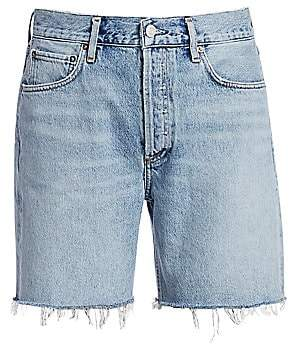 A Gold E AGOLDE Women's Rumi Mid-Length Denim Cutoffs