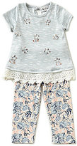 Rare Editions Baby Girls 12-24 Months Embellished Top & Printed Leggings Set