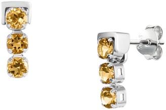Tsai X Tsai San Shi Citrine Stud Earrings, Sterling Silver