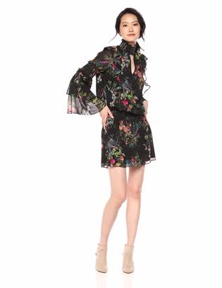 Parker Women's Elliana high Neck Long Sleeve Short Dress