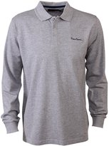 Pierre Cardin Mens New Season Long Sleeve Classic Fit Premium Polo T Shirt (, Grey Marl)