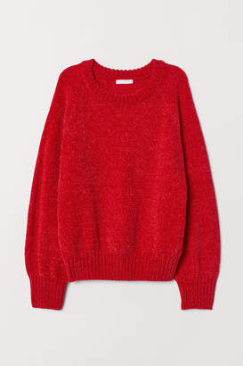 H&M Ribbed Sweater - Red