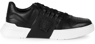 Versace Leather Logo Runners