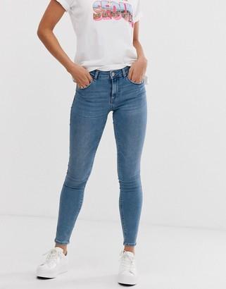 Pieces Bree skinny ankle grazer jeans-Blue