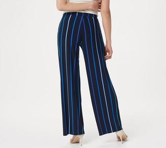 Susan Graver Petite Printed Liquid Knit Pull-On Pants
