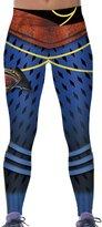 Jiayiqi Active Girls Rugby Helmet Print Slimming Leggings for All Season