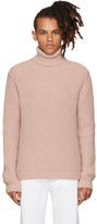 MSGM Pink Thick Knit Turtleneck