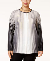 Alfani Plus Size High-Low Blouse, Only at Macy's
