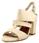 Fabrizio Chini Vacchetta Women Open-toe Leather Nude Slingback Sandal.