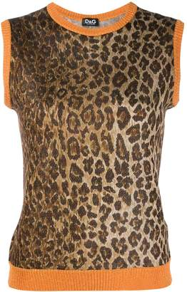 Dolce & Gabbana Pre-Owned 1990s leopard print knitted vest