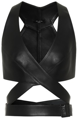Alaia Leather bustier