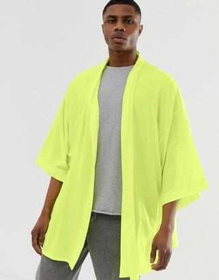 Asos DESIGN oversized kimono in neon green