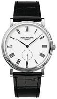 Patek Philippe Calatrava 18K White Gold Watch on Leather Strap 5119G