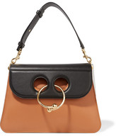 J.W.Anderson Pierce Medium Color-block Leather Shoulder Bag - Camel