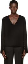Helmut Lang Black V-Neck Sweater