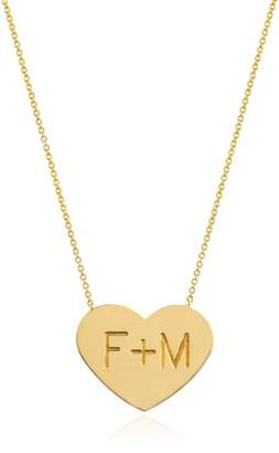 Johnny Was 14K Gold Custom Large Heart Of Gold Necklace