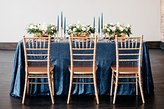 B-COOL 90''X90'' Rectangle Navy Sequin Tablecloth , Square Sequins Table Linen