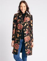 Marks and Spencer Floral Print Coat with StormwearTM