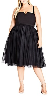 City Chic Plus Princess Fit-and-Flare Dress