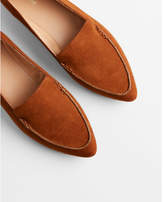 Express faux suede pointed toe loafer