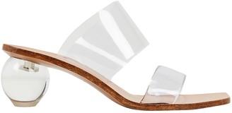 Cult Gaia Jila Transparent Slide Sandals