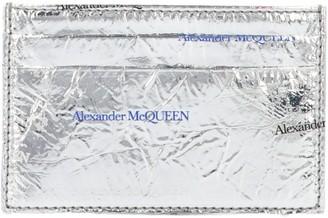Alexander McQueen Metallic Logo Cardholder