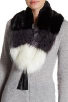 Steve Madden Faux Fur Tassel Collar