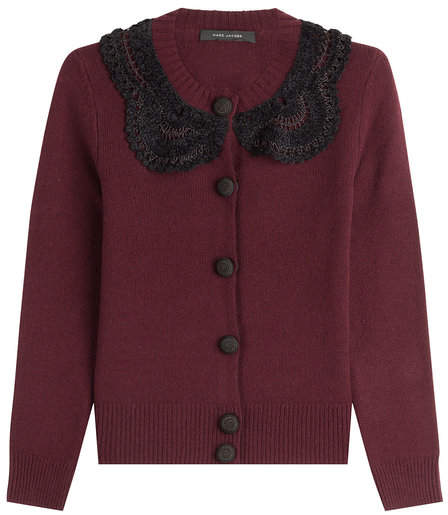 Marc Jacobs Wool Cardigan with Crochet