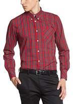 Merc of London Men's Coupe droite Button Down Long sleeve Formal Shirt - -