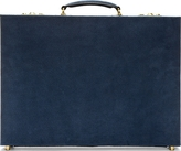 Thom Browne Blue Pebbled Suede Anchor Briefcase